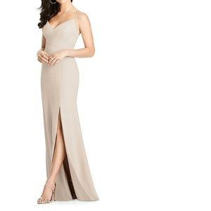Nude DESSY bridesmaid dress from NORDSTROM